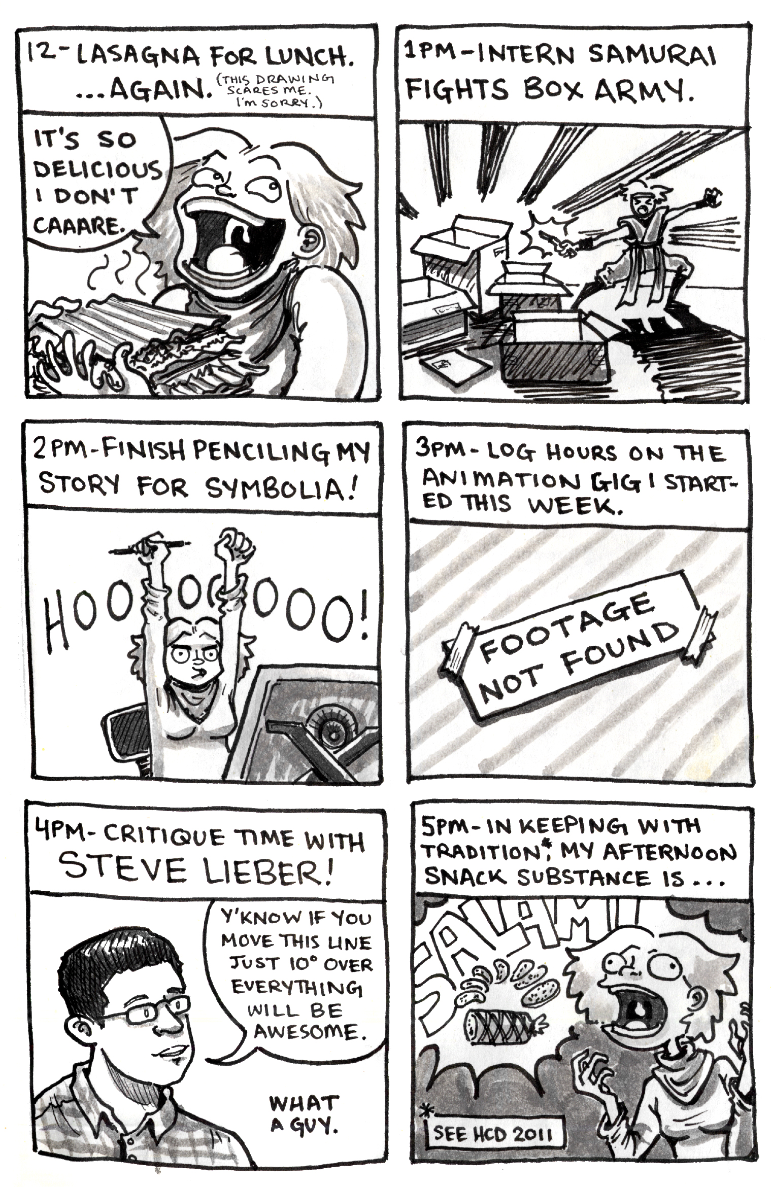Hourly Comic Day 2013 – Lucy Bellwood